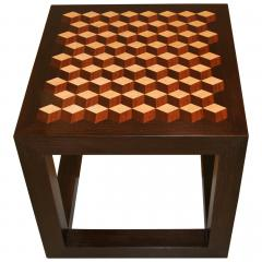 Emily Summers Studio Line Handcrafted End Table with Inlay Detail - 665185