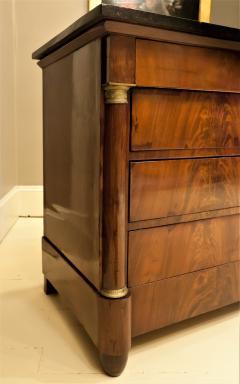 Empire Crotch Mahogany 4 Drawer Commode Chest Circa 1820 France - 1732200