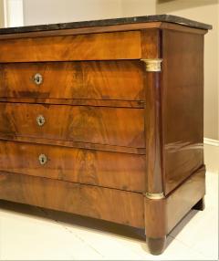 Empire Crotch Mahogany 4 Drawer Commode Chest Circa 1820 France - 1732217
