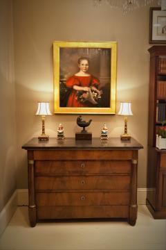 Empire Crotch Mahogany 4 Drawer Commode Chest Circa 1820 France - 1732219