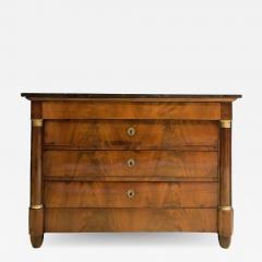 Empire Crotch Mahogany 4 Drawer Commode Chest Circa 1820 France - 1734304