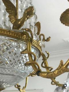Empire Gilt Bronze and Cut Crystal Chandelier circa 1815 - 1445731