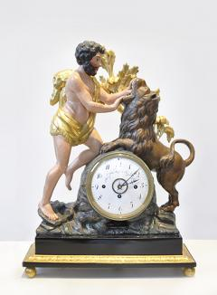 Empire Mantle Clock of Hercules and the Nemean Lion - 503255