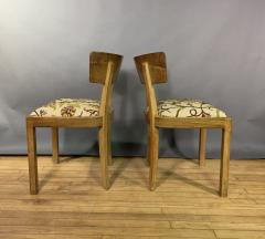 Empire Maple Rootwood Klismos Chair c1940 Crewel Fabric - 1806021