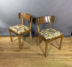 Empire Maple Rootwood Klismos Chair c1940 Crewel Fabric - 1806022