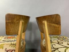 Empire Maple Rootwood Klismos Chair c1940 Crewel Fabric - 1806024
