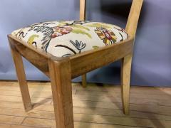 Empire Maple Rootwood Klismos Chair c1940 Crewel Fabric - 1806025