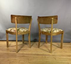 Empire Maple Rootwood Klismos Chair c1940 Crewel Fabric - 1806026
