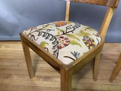 Empire Maple Rootwood Klismos Chair c1940 Crewel Fabric - 1806027