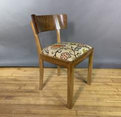Empire Maple Rootwood Klismos Chair c1940 Crewel Fabric - 1806028