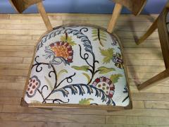 Empire Maple Rootwood Klismos Chair c1940 Crewel Fabric - 1806029