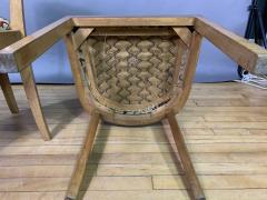 Empire Maple Rootwood Klismos Chair c1940 Crewel Fabric - 1806030