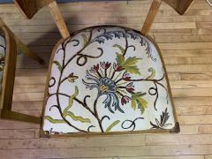Empire Maple Rootwood Klismos Chair c1940 Crewel Fabric - 1806031