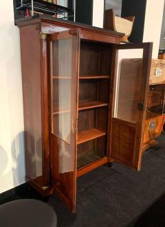 Empire Restauration Bookcase Cherry Wood Brass Fittings France circa 1810 - 1907600