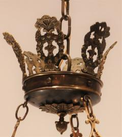 Empire Style Brass Six Light Chandelier - 1198166