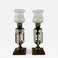 Empire Style English Hurricane Table Lamps - 1731534