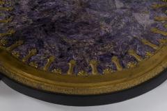 Empire Style Gilt Bronze Tessellated Amethyst Center Table - 582233