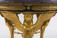 Empire Style Gilt Bronze Tessellated Amethyst Center Table - 582235