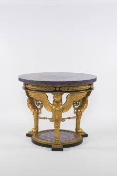 Empire Style Gilt Bronze Tessellated Amethyst Center Table - 582238