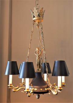 Empire Style Six Light Figural Chandelier - 1064169