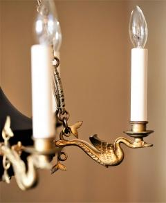 Empire Style Six Light Figural Chandelier - 1064176