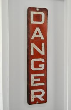 Enamel Danger Sign - 1714268