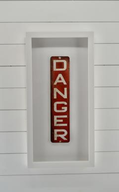 Enamel Danger Sign - 1714269