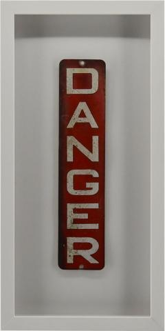 Enamel Danger Sign - 1716381