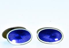 Enamel and Silver Back to Back Cufflinks - 1201270