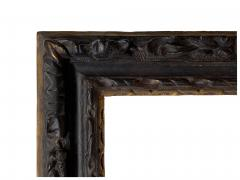 English 17th Century Ebonized Parcel Gilt Carved Leaf Lely Picture Frame - 1112721