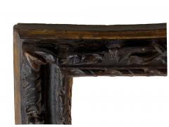 English 17th Century Ebonized Parcel Gilt Carved Leaf Lely Picture Frame - 1112723
