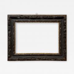 English 17th Century Ebonized Parcel Gilt Carved Leaf Lely Picture Frame - 1112977
