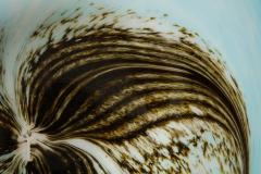 English 1950s Art Glass Seed Pod Charger - 664815