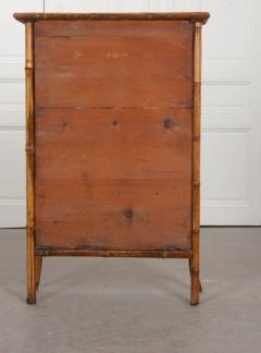 English 19th Century Bamboo D coupage Shell Bookcase - 1395051