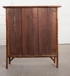 English 19th Century Bamboo and D coupage Fish Bookcase - 1099528