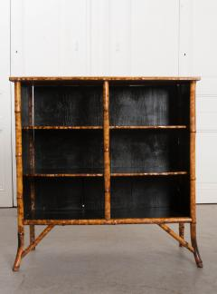 English 19th Century D coupaged Bamboo Bookcase - 1099547