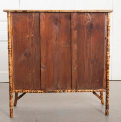 English 19th Century D coupaged Bamboo Bookcase - 1099548