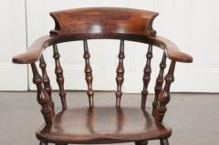 English 19th Century Oak Captain s Chair - 1395063