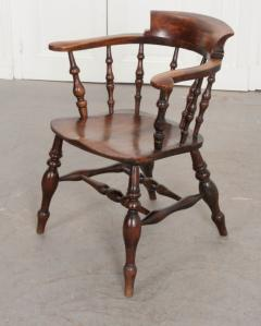 English 19th Century Oak Captain s Chair - 1395066