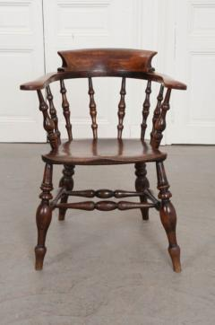 English 19th Century Oak Captain s Chair - 1395067