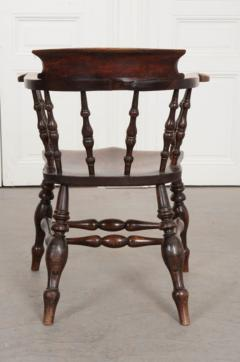 English 19th Century Oak Captain s Chair - 1395079