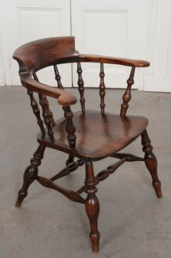 English 19th Century Oak Captain s Chair - 1395080