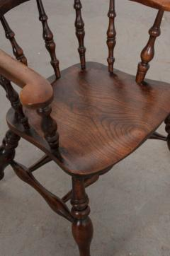 English 19th Century Oak Captain s Chair - 1395081