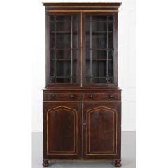 English 19th Century Regency Faux Bois Bookcase - 2076239