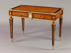 English 19th Century Trellis and Dot Inlaid Writing Table - 618376