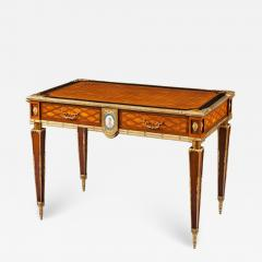 English 19th Century Trellis and Dot Inlaid Writing Table - 618945