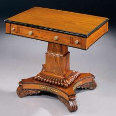 English 19th Century William IV Period Carved Mahogany Games Table - 678255