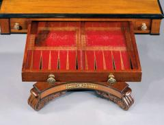 English 19th Century William IV Period Carved Mahogany Games Table - 678256
