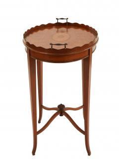 English Adam Satinwood Medallion End Table - 1438048