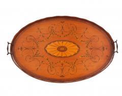 English Adam Satinwood Medallion End Table - 1438049